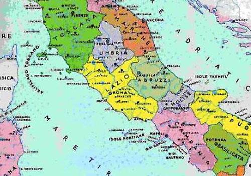 Cartina Geografica Italiana Con Regioni.Confini Regioni Italiane Comuni E Citta